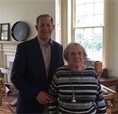 Mayor Cahn with first Barclay Farmstead Director