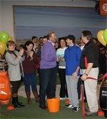 Mayor Cahn at Golf U Grand Opening