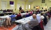 Mayor Cahn addressing Maturity Club