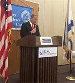 Mayor Cahn addressing Law Enforcement Appreciation Breakfast