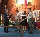 Salvatore DeFrancesco Eagle Scout ceremony