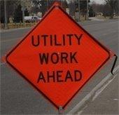 Utility work ahead
