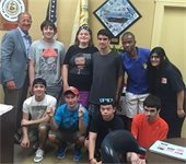 Mayor Cahn and west students