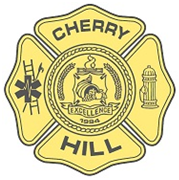 Yellow Cherry Hill fire badge
