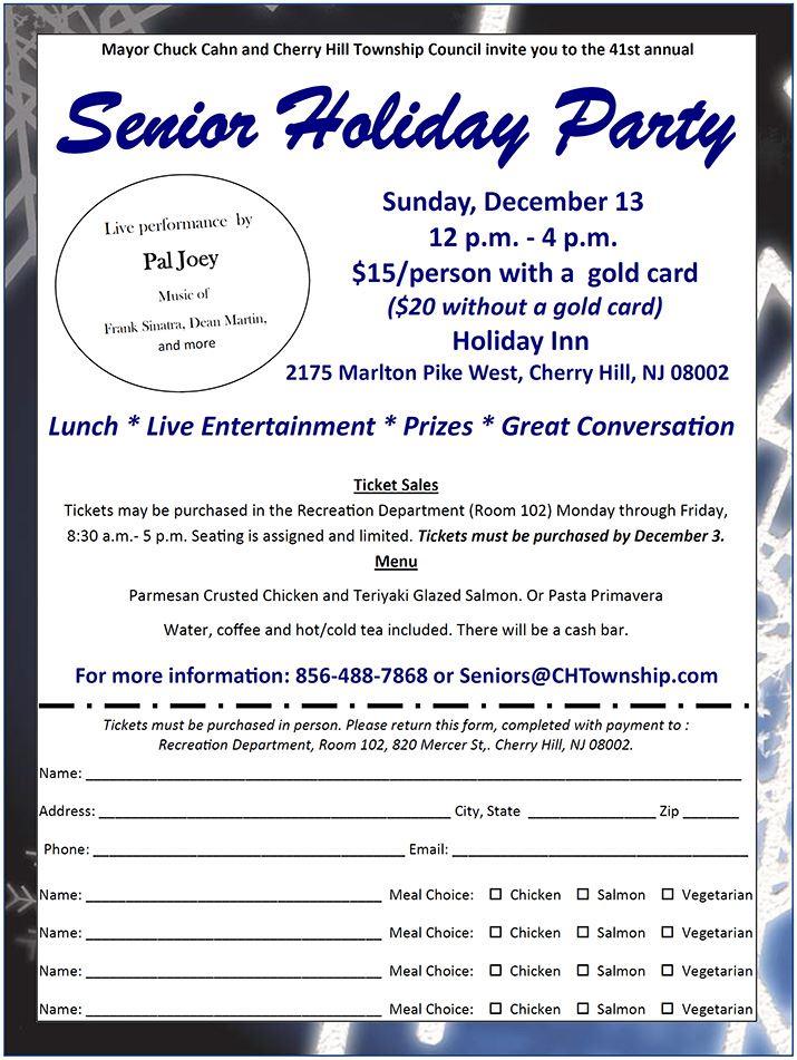 Senior Citizen Holiday Party 2015