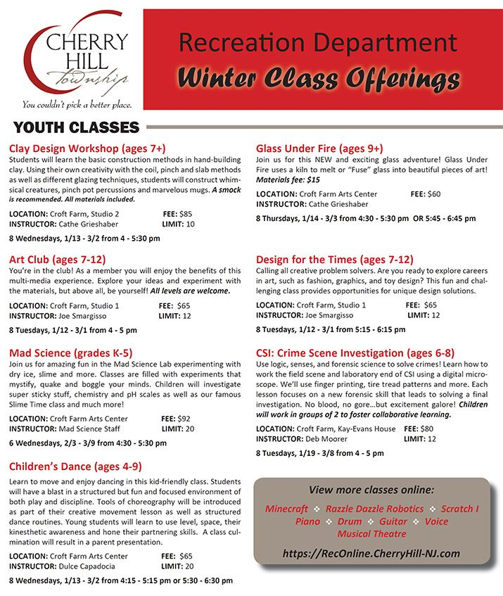 Winter 2016 Course Offerings - 1