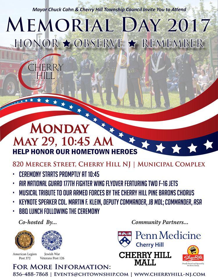 Memorial Day Flyer 2017