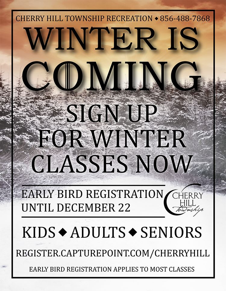 winter is coming 2018 classes flyer