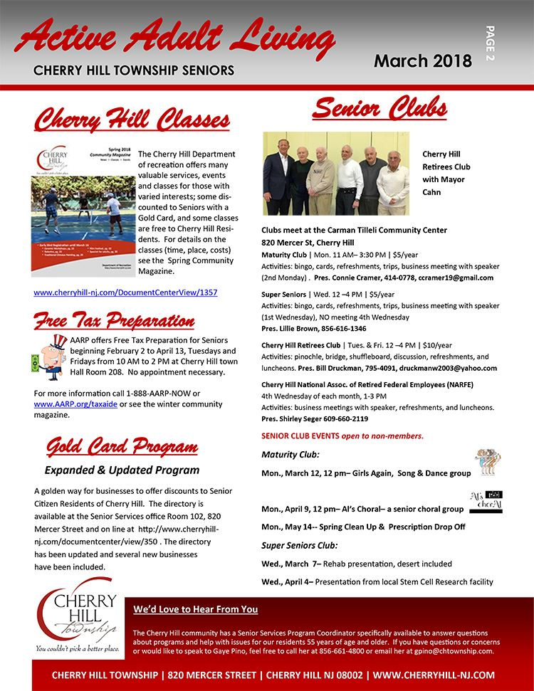 page 2 March 2018 Newsletter