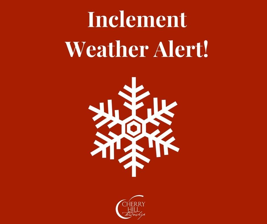 Inclement Weather Alert