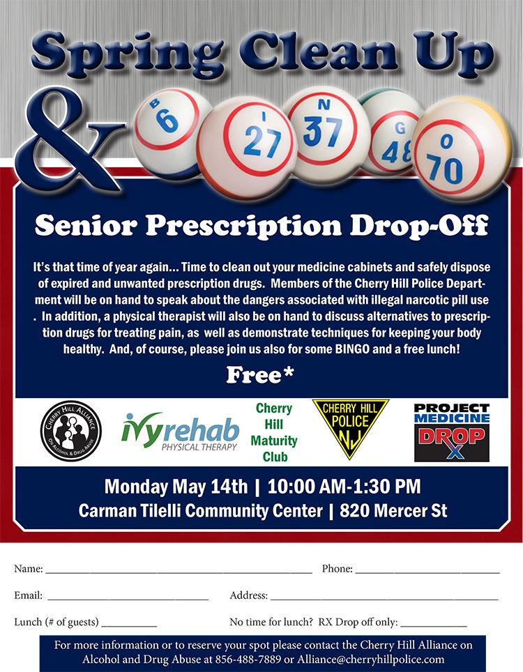 Bing Pill Drop Off flyer