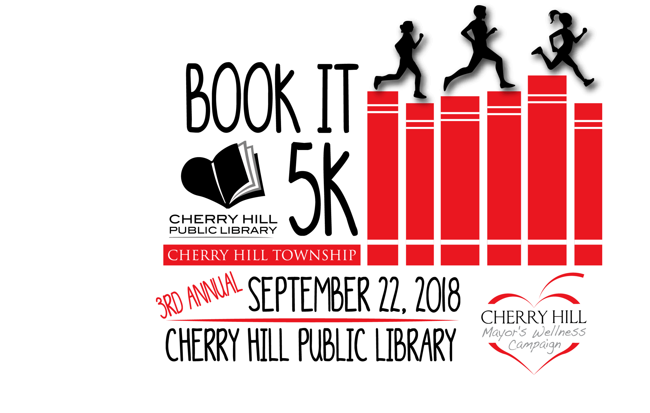 Book It 5K, September 22, 2018, Cherry Hill Public Library