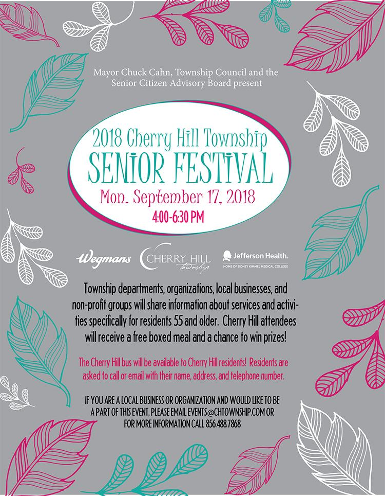 Senior Festival Flyer 2018