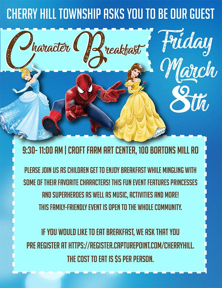 character breakfast flyer