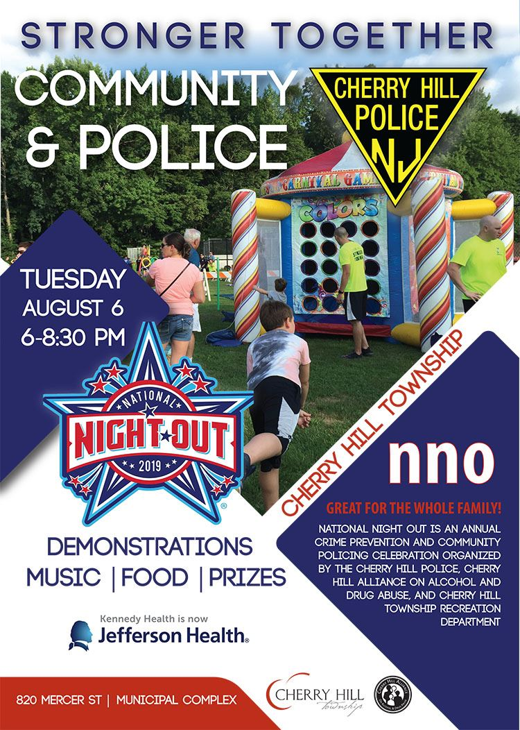National Night Out August 6 6 to 8:30 p.m. 820 mercer street