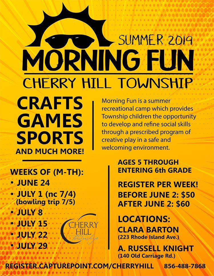 Morning Fun Summer Camp June 24 through July 29