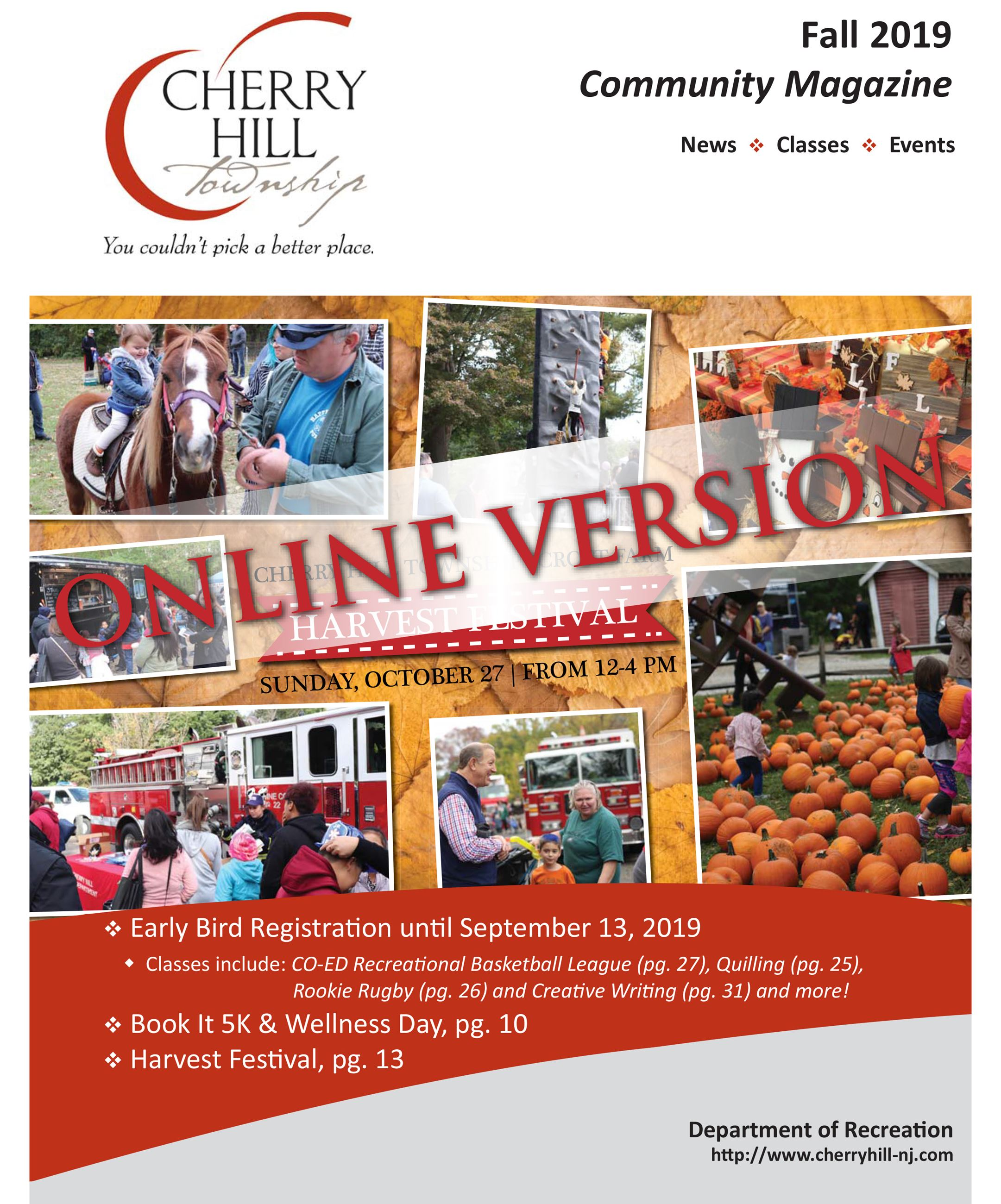 Fall 2019 Cherry Hill Community Magazine - Cover