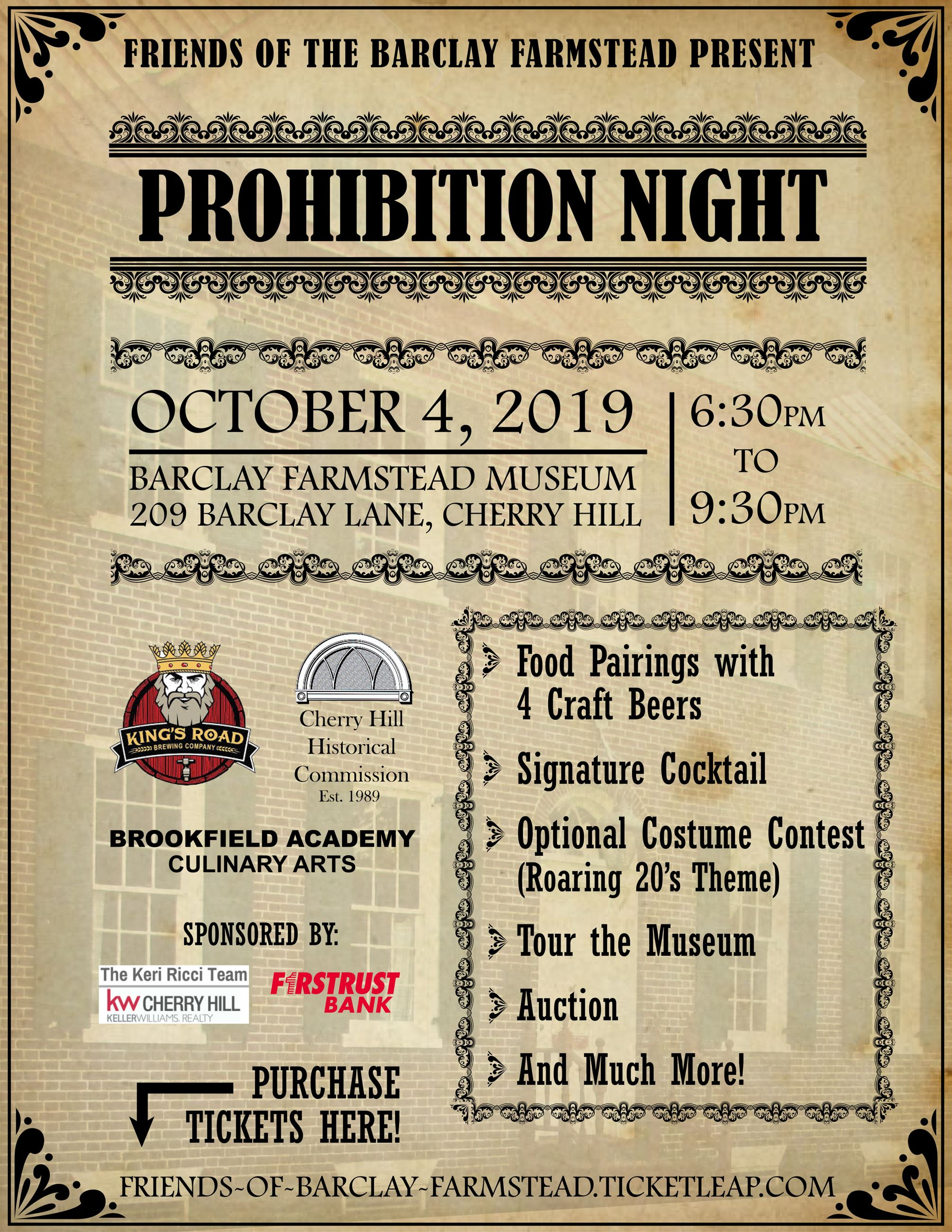 barclay prohibition night