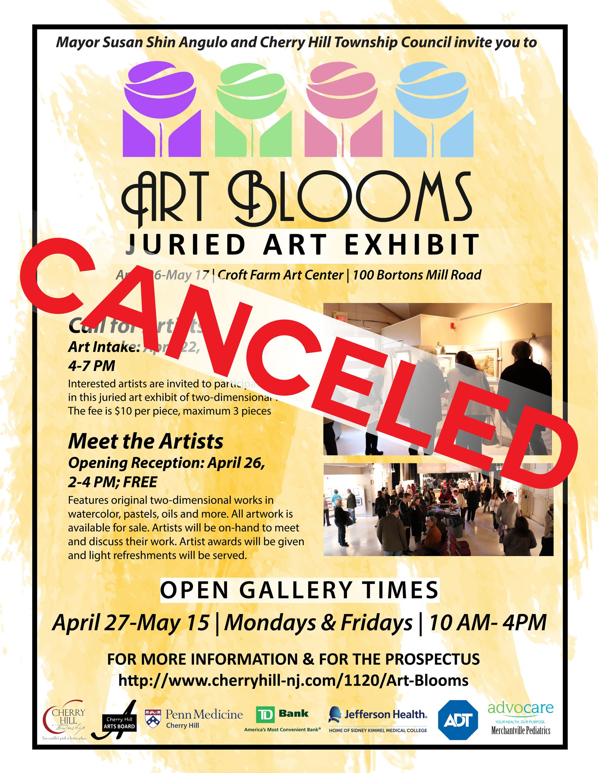 Art Blooms Flyer canceled