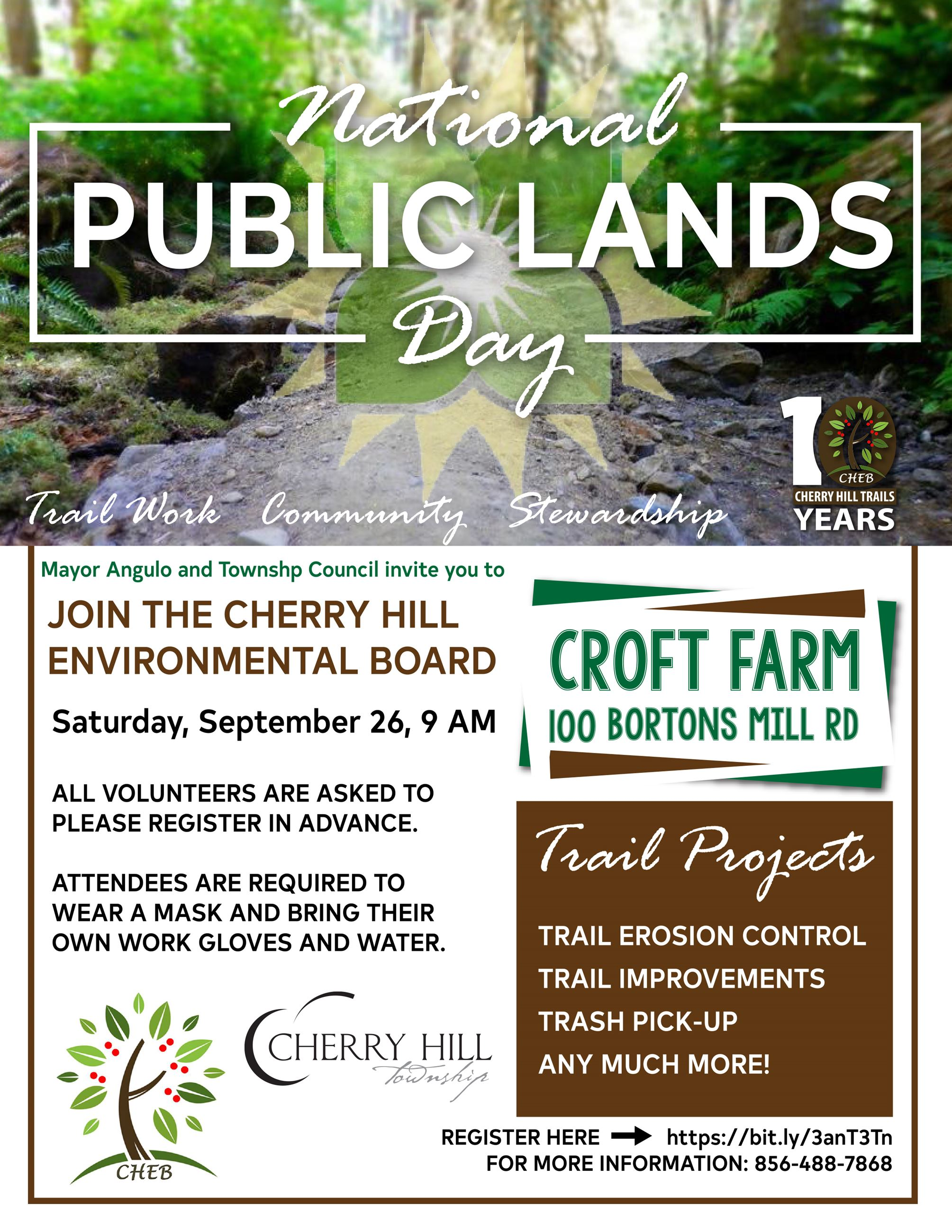 national public lands day flyer 2020