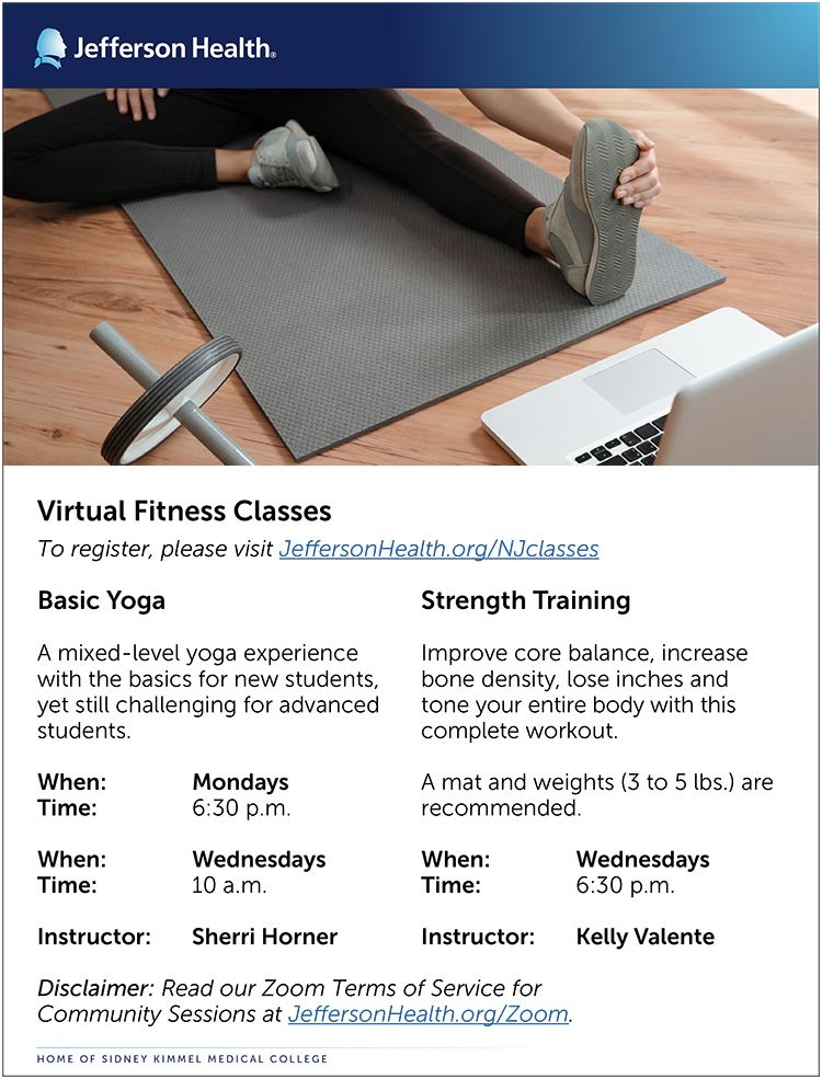 09-10-2020 Flier - Virtual Fitness Classes