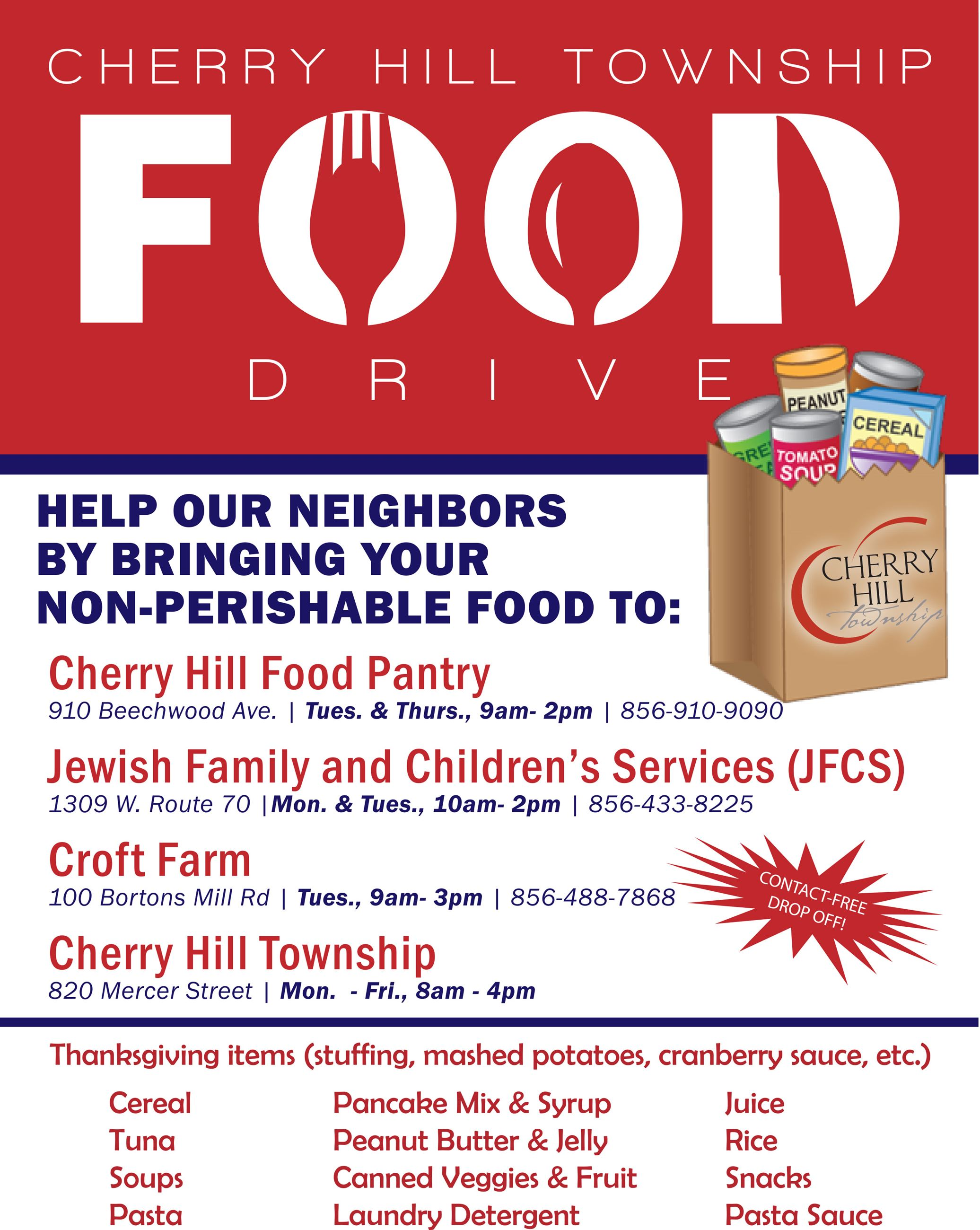 Cherry Hill Township Food Drive