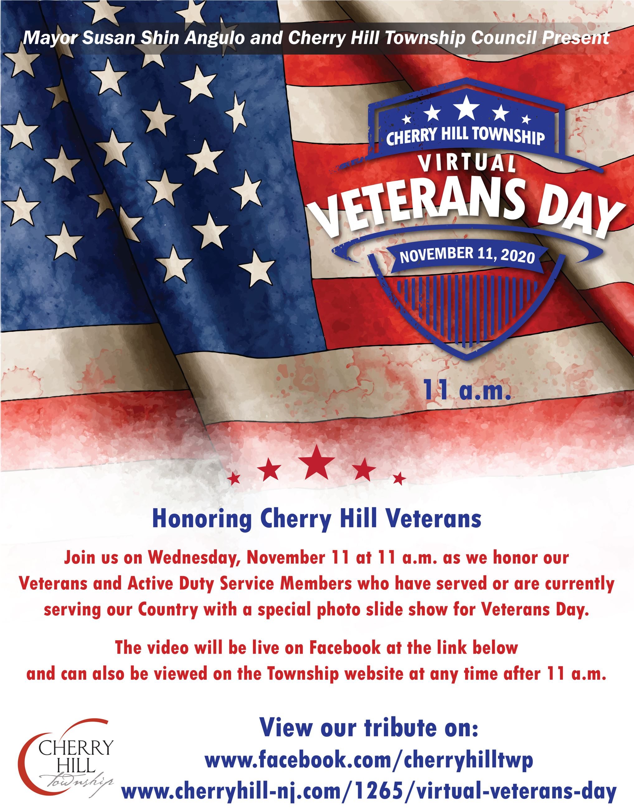 Virtual Veterans Day Flyer November 11 2020