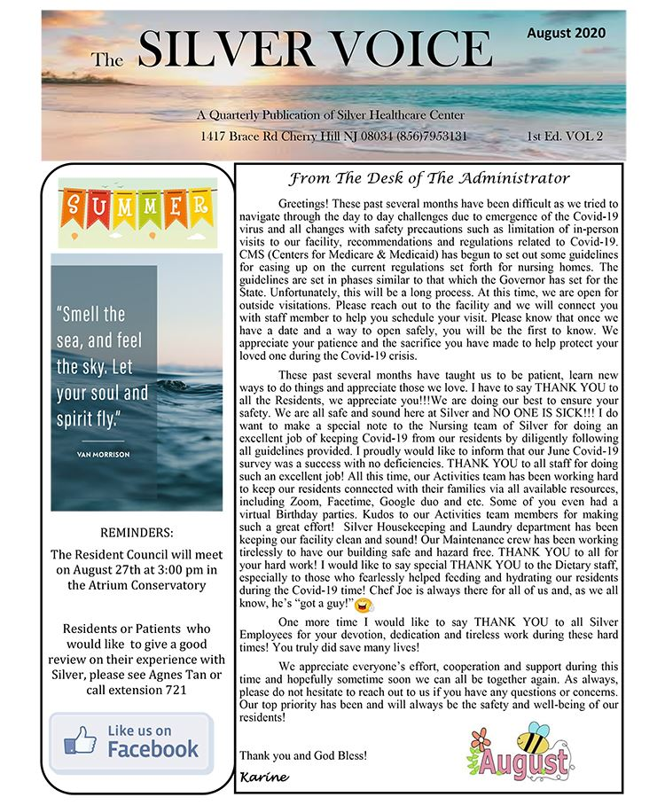 Aug20 Newsletter (PDF) Opens in new window