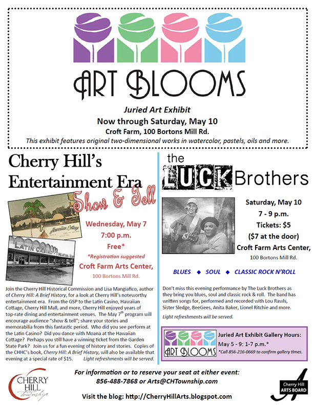 Art Blooms Events through May 10