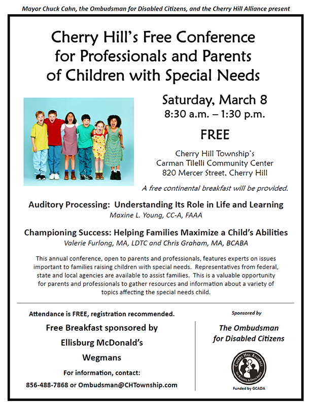 Free Conference for Parents of Children with Special Needs - March 8