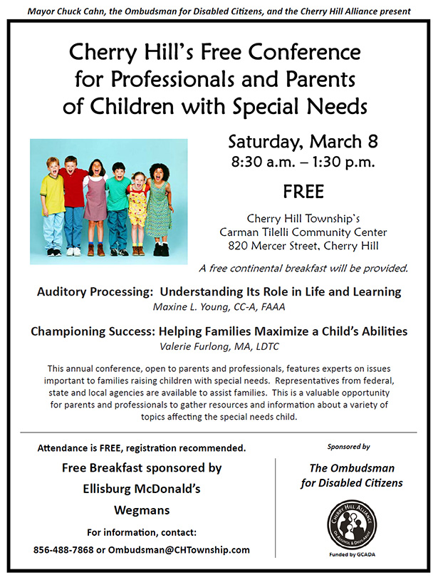 Free Conference with Professionals and Parents of Children with Special Needs