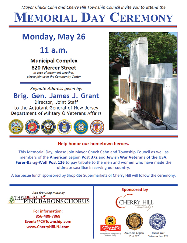 Memorial Day Ceremony May 26