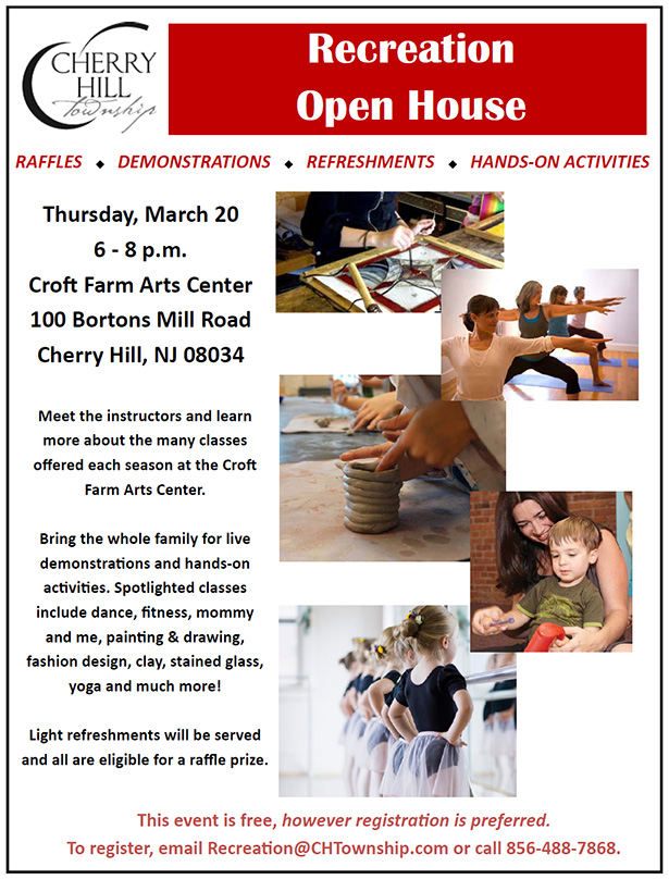 Recreation Open House - March 20