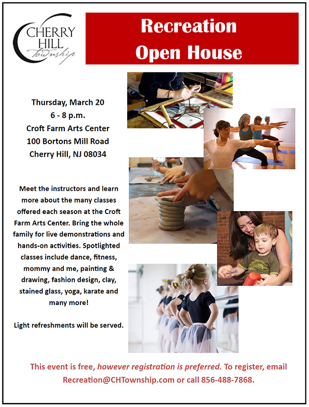 Recreation Open House March 20