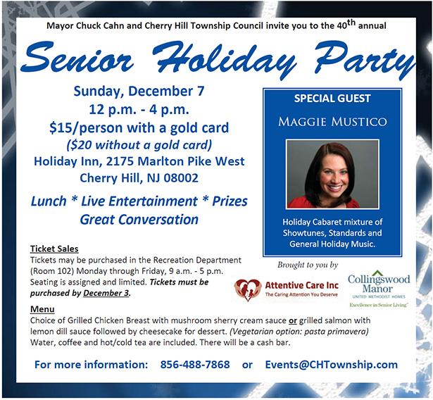 Senior Holiday Party - December 7