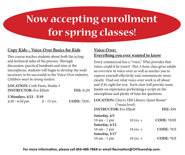 Now Accepting Spring Registration
